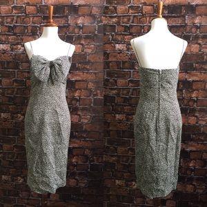 Vintage La Bottega Silk Bow Dress